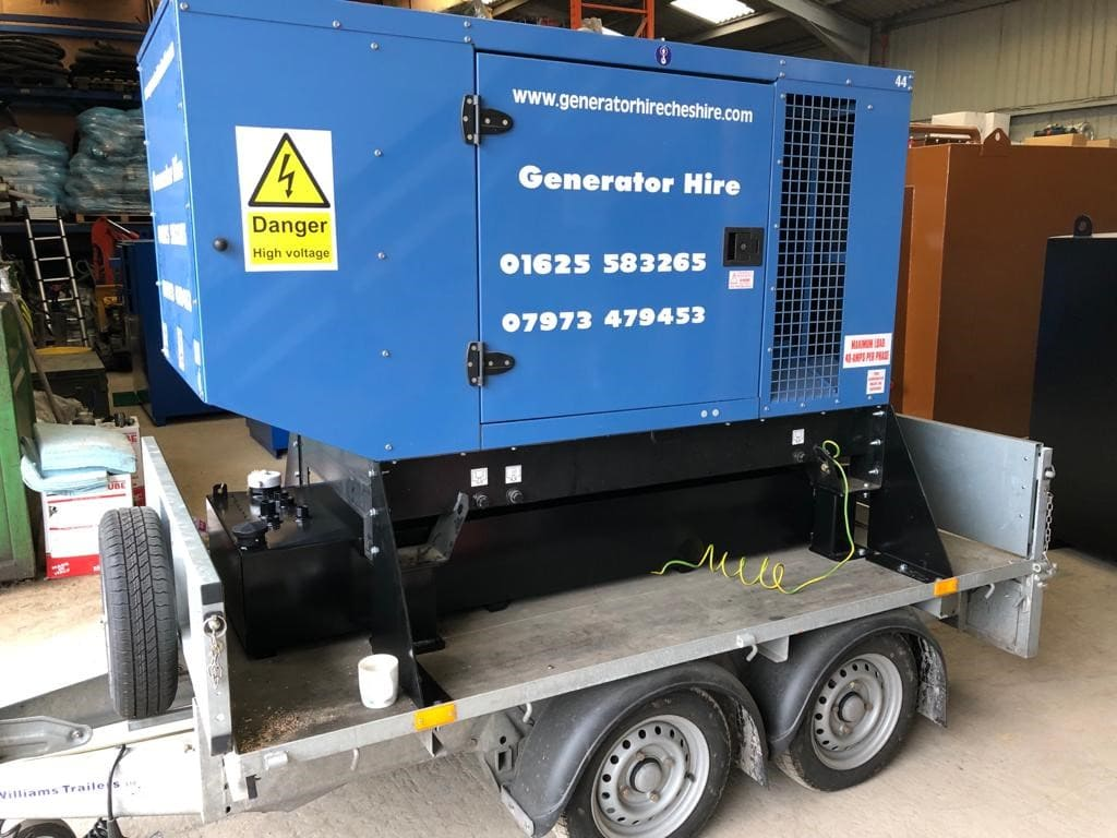 Trailer-mounted generator fuel tank adds valuable capacity